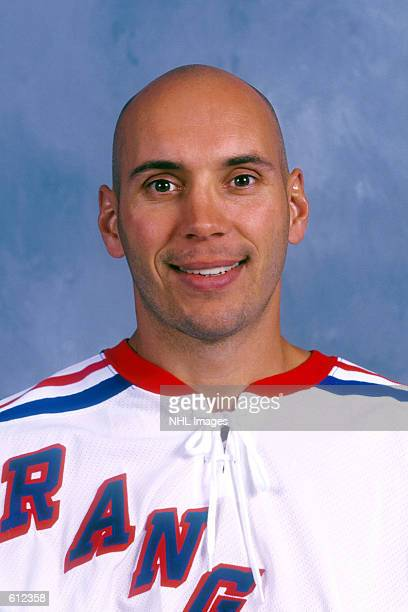 Sylvain Lefebvre of the New York Rangers poses for a portrait in New York New York DIGITAL IMAGE Mandatory Credit Getty Images/ NHLI