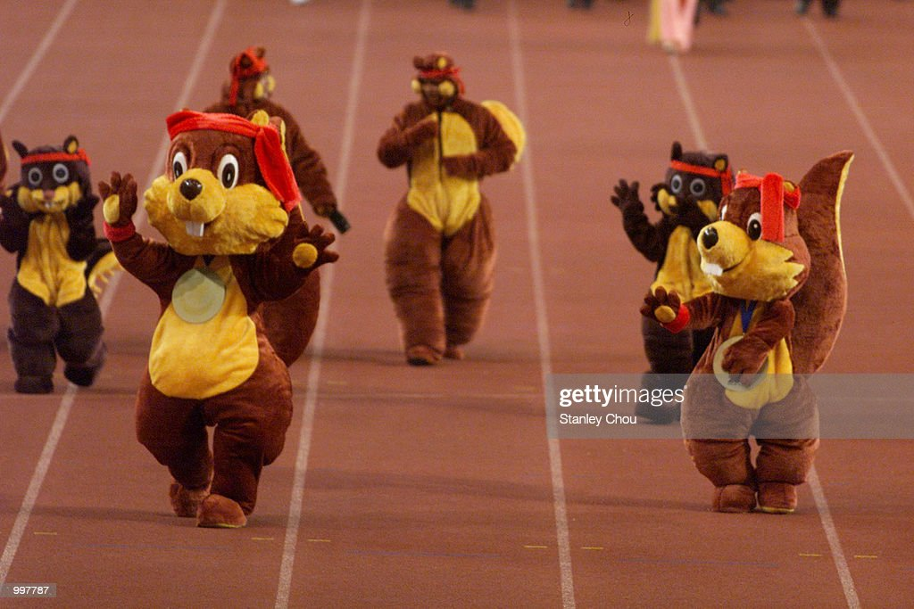 The Mascot of The SEA Games, Si Tumas marching in during the Opening Ceremony held at the Bukit Jalil National Stadium, Kuala Lumpur, Malaysia during the 21st South East Asian Games. DIGITAL IMAGE. Mandatory Credit: Stanley Chou/ALLSPORT