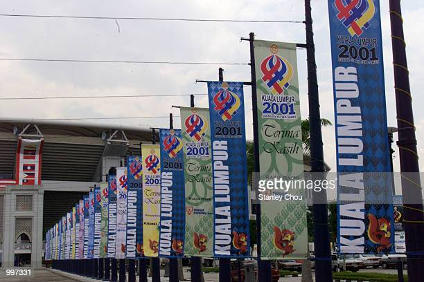 The Sea Games banners glamourize the surroundings of the Bukit Jalil National Stadium in Kuala Lumpur, Malaysia which will host the Opening Ceremony...