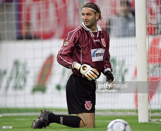 Tomislav Piplica of Energie Cottbus in action during the German Bundesliga match against Hansa Rostock played at the Ostseestadion, in Rostock,...