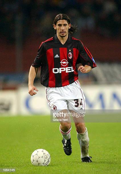 Umit Davala of AC Milan in action during the Serie A 3rd Round League match between Udinese and AC Milan played at the Friuli Stadium Udine DIGITAL...