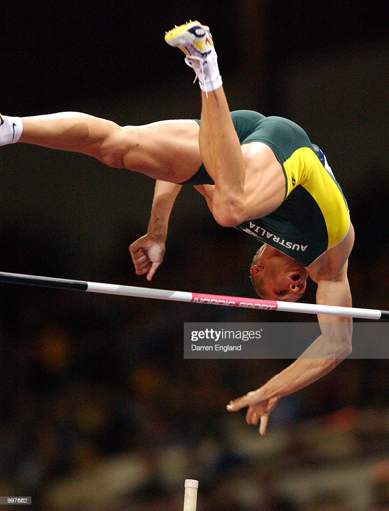 Viktor Chistiakov of Australia in action during the men's Pole Vault at ANZ Stadium during the Goodwill Games in Brisbane, Australia. DIGITAL IMAGE. Mandatory Credit: Darren England/ALLSPORT