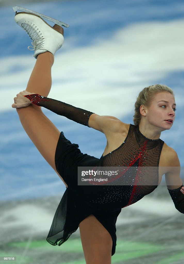 Viktoria Volchkova of Russia in action at the Figure Skating competition during the Ladies Short Program held at the Brisbane Entertainment Centre during the Goodwill Games in Brisbane, Australia. DIGITAL IMAGE. Mandatory Credit: Darren England/ALLSPORT