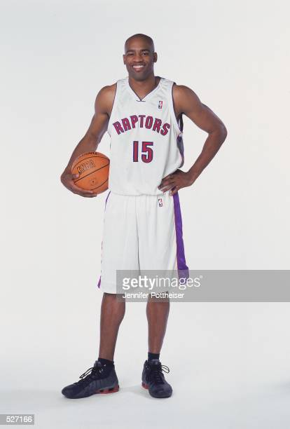 Vince Carter of the Toronto Raptors poses for a studio portrait on Media Day in Toronto, Ontario, Canada. NOTE TO USER: It is expressly understood...