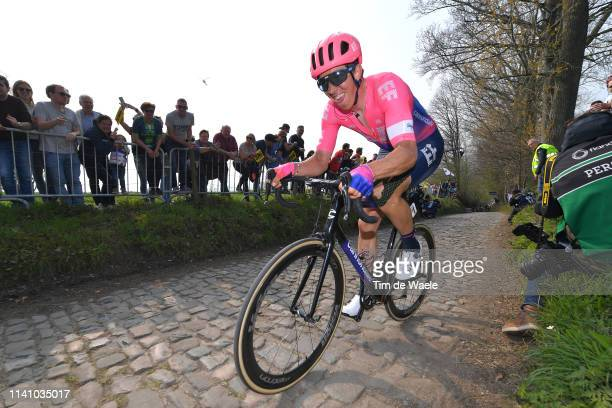 Sep Vanmarcke of Belgium and Team Ef Education First / Koppenberg / Cobblestones / Fans / Public / during the 103rd Tour of Flanders 2019 - Ronde van...