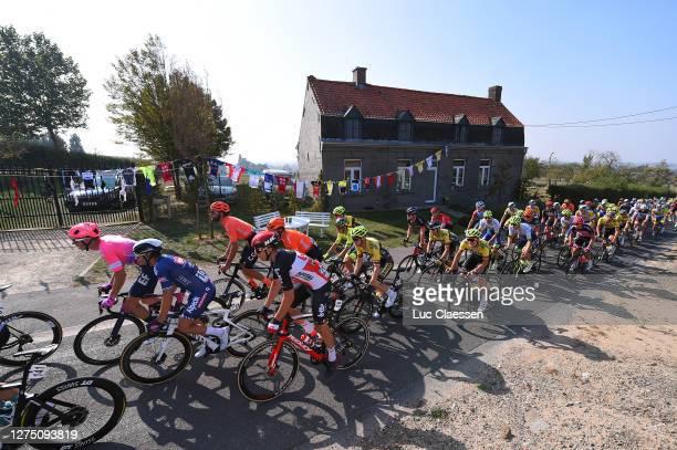 Sep Vanmarcke of Belgium and Team Ef Pro Cycling / Gianni Vermeersch of Belgium and Team Alpecin - Fenix / Florian Vermeersch of Belgium and Team...