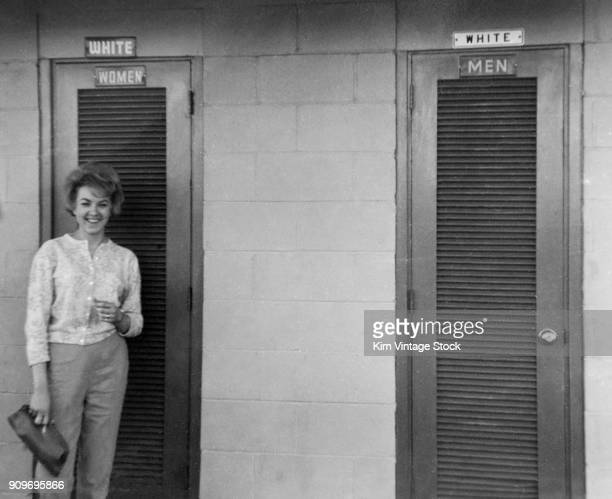 Separate bathrooms for different races in Mississippi,  ca. 1962.