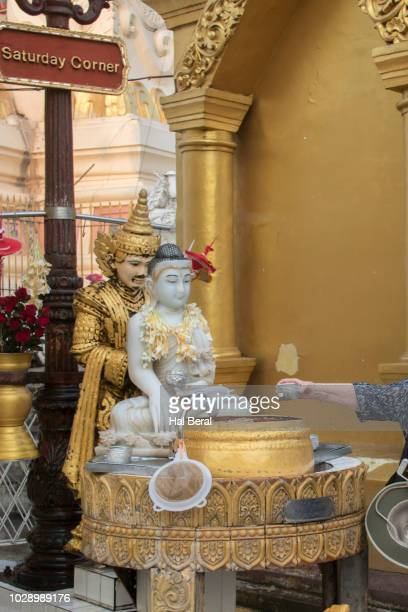 separate shrine for each day of the week at shwedagon pagoda - for stock pictures, royalty-free photos & images