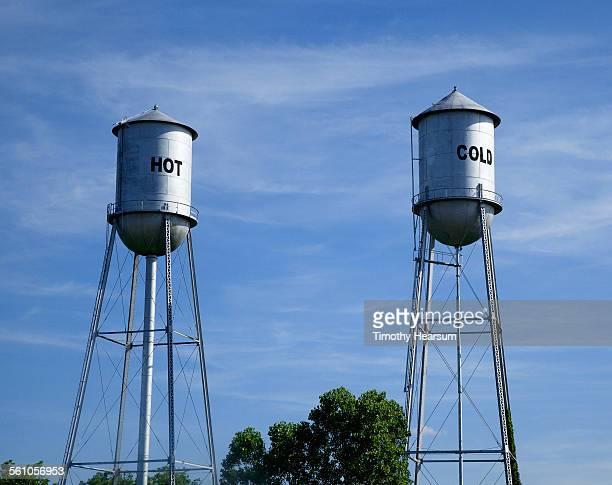 "separate water towers for ""hot and cold"" - timothy hearsum bildbanksfoton och bilder"