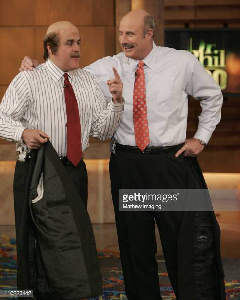 Separated at Birth Jay Leno makes a surprise appearance on Dr Phil's 500th Show Leno came dressed as the daytime talk show host from head to toe This...
