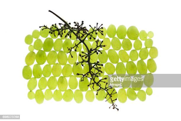 Separated Green Grapes