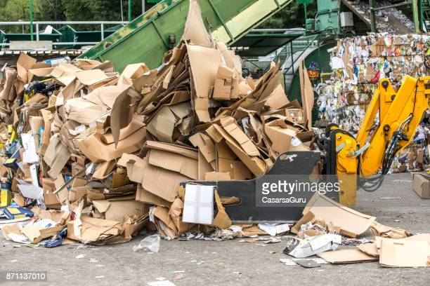 Separation of Cardboard at Garbage Recycle Center
