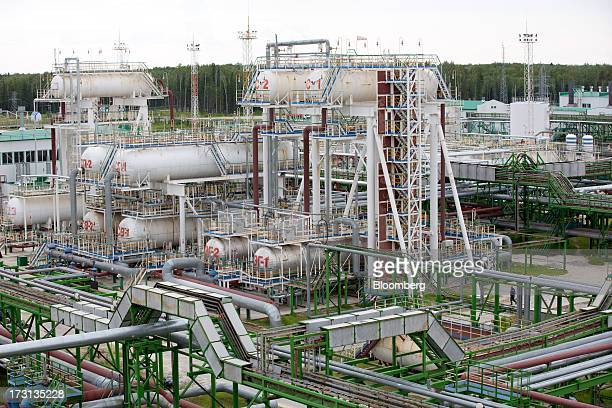 A seperator facility stands at an oil plant operated by Salym Petroleum in Salym KhantyMansi autonomous region Russia on Wednesday July 3 2013...