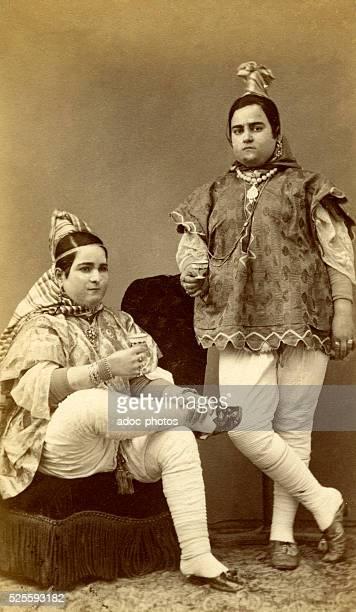 Sephardi jews women from Tunis . Ca. 1875.