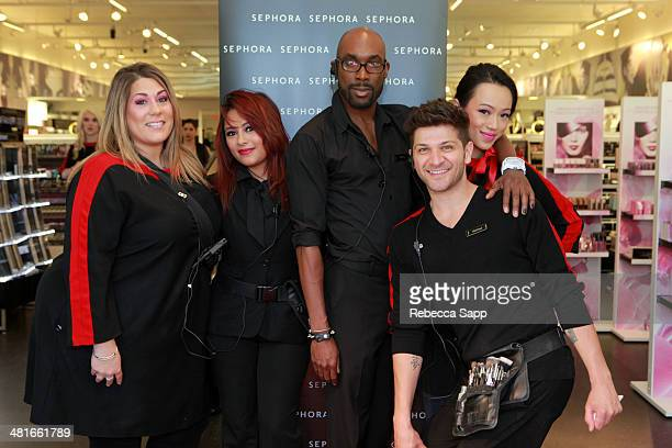 Sephora cast attends the Sephora VIB Rouge Spring Social at Sephora Santa Monica on March 30 2014 in Santa Monica California