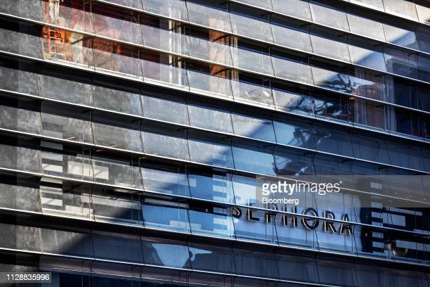 Sephora USA Inc signage is displayed at the Hudson Yards development in New York US on Tuesday March 5 2019 Driving the $25 billion development of...