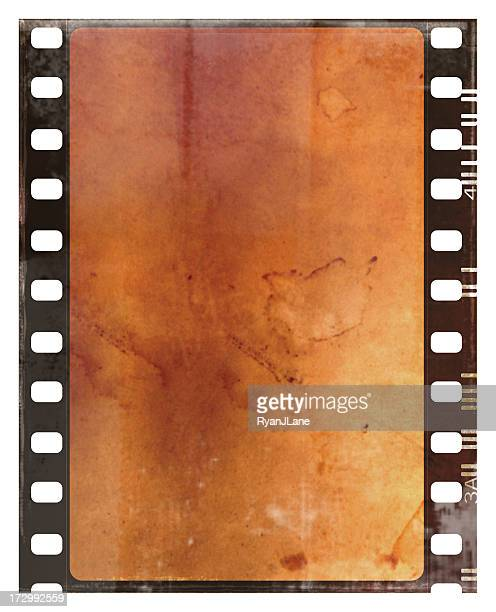 Sepia Grunge Film Strip with Copy Space