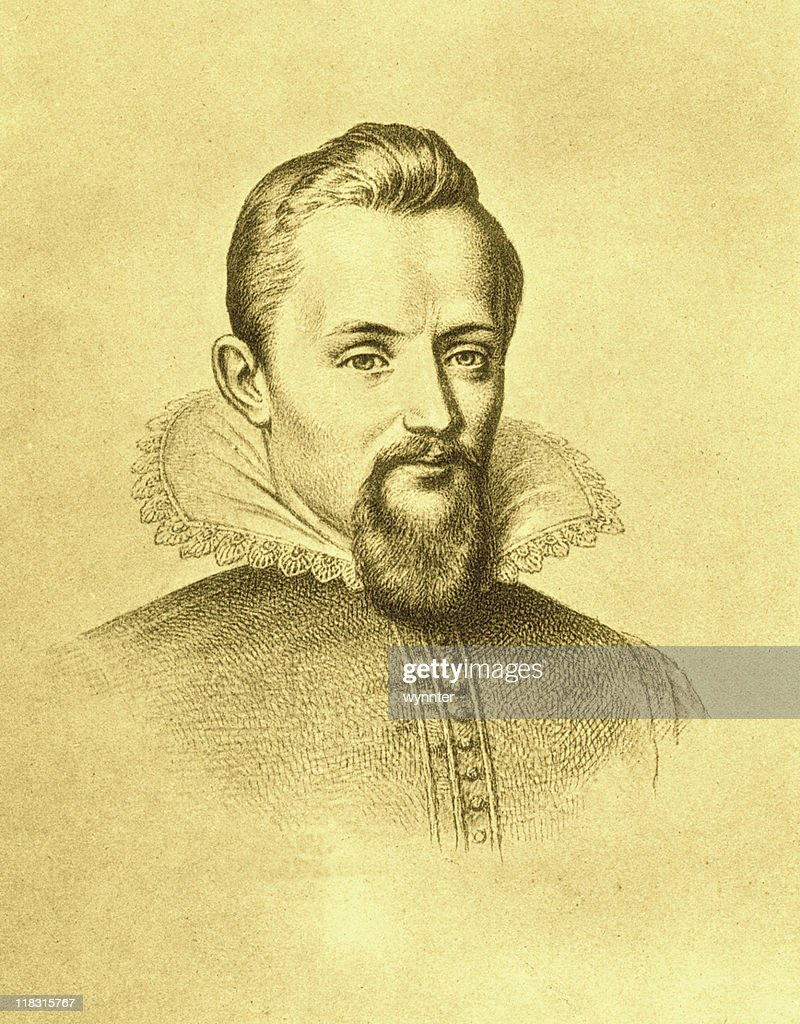 Sepia Portrait of Johannes Kepler : Stock Photo