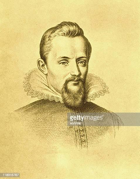 Sepia Portrait of Johannes Kepler