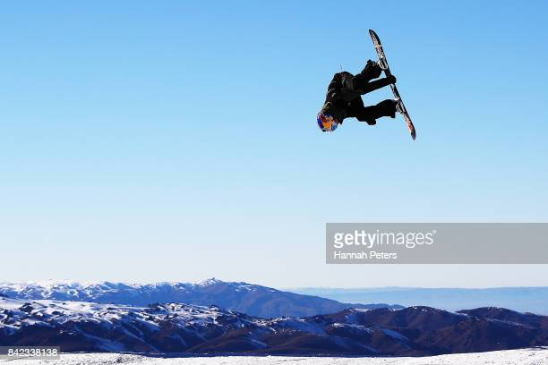 Sepia Smits of Belgium competes during Winter Games NZ FIS Men's Snowboard World Cup Slopestyle Finals at Cardrona Alpine Resort on September 4 2017...