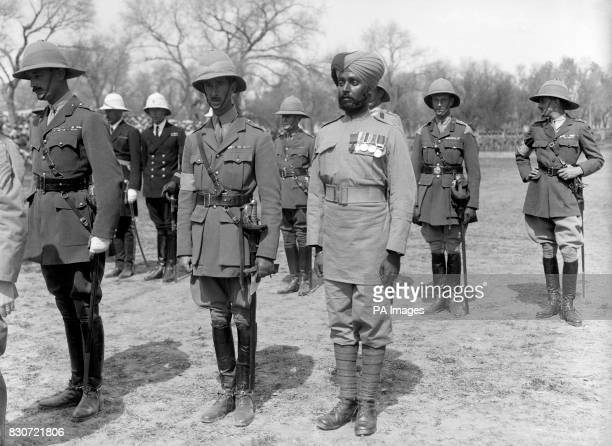 Sepoy Ishar Singh of the 28th Punjab Regiment after he had been presented with the Victoria Cross by the Prince of Wales