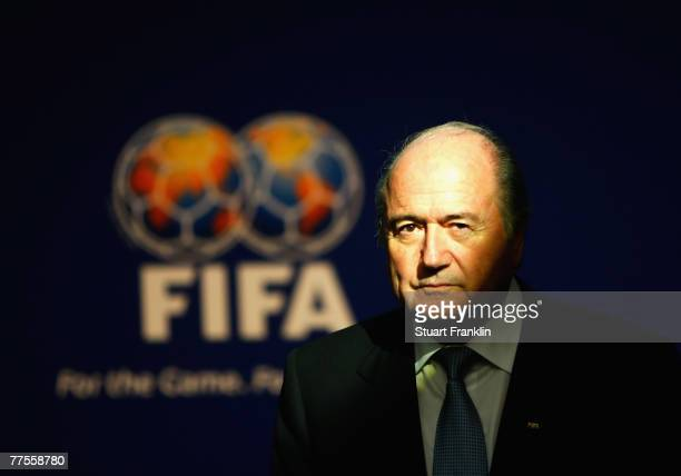Sepp Blatter, President of FIFA during the FIFA Executive Committee announcement for the host venue of the FIFA Womens World Cup 2011, at the FIFA...