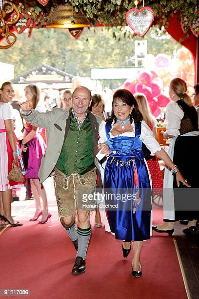 Sepp Kraetz and Regine Sixt attend 'Regines Damenwiesn' at Hippodrom at the Theresienwiese on September 28 2009 in Munich Germany Oktoberfest is the...