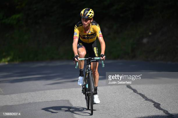 Sepp Kuss of The United States and Team Jumbo - Visma / Breakaway / during the 72nd Criterium du Dauphine 2020, Stage 5 a 153,5km stage from Megeve...