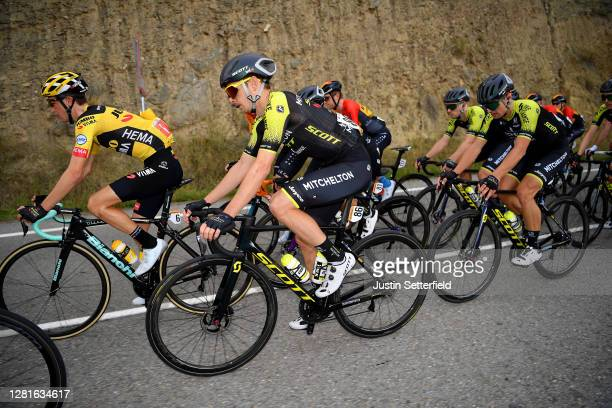 Sepp Kuss of The United States and Team Jumbo Visma / Dion Smith of New Zealand and Team Mitchelton Scott / Nicholas Schultz of Australia and Team...