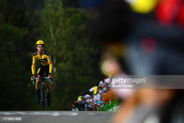 Sepp Kuss of The United States and Team Jumbo - Visma / during the 107th Tour de France 2020, Stage 20 a 36,2km Individual Time Trial stage from Lure...