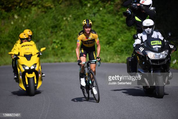 Sepp Kuss of The United States and Team Jumbo - Visma / during the 72nd Criterium du Dauphine 2020, Stage 5 a 153,5km stage from Megeve to Megeve...