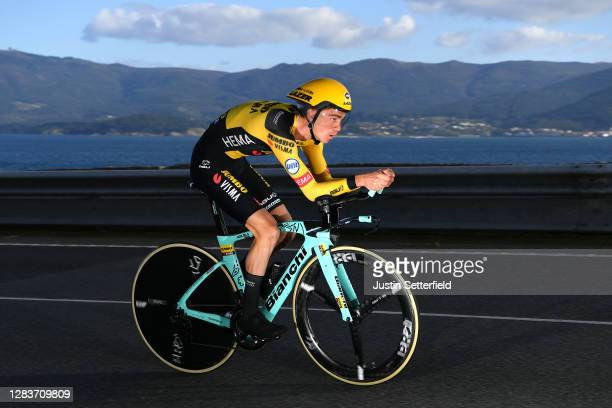 Sepp Kuss of The United States and Team Jumbo - Visma / during the 75th Tour of Spain 2020, Stage 13 a 33,7km Individual Time Trial stage from Muros...