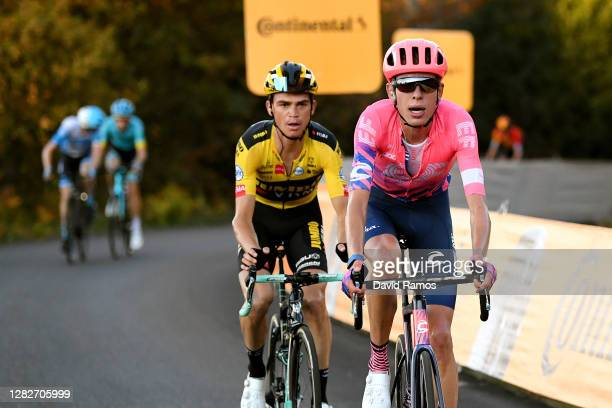 Sepp Kuss of The United States and Team Jumbo - Visma / Hugh Carthy of The United Kingdom and Team EF Pro Cycling / during the 75th Tour of Spain...