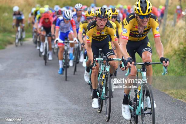 Sepp Kuss of The United States and Team Jumbo - Visma / Robert Gesink of The Netherlands and Team Jumbo - Visma / during the 72nd Criterium du...