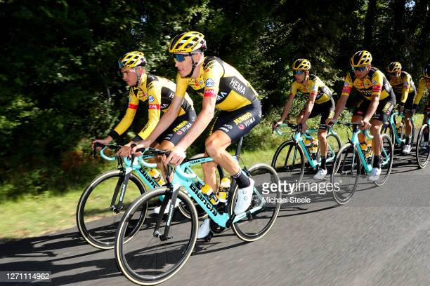 Sepp Kuss of The United States and Team Jumbo - Visma / Robert Gesink of The Netherlands and Team Jumbo - Visma / Tony Martin of Germany and Team...
