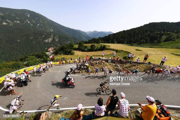 Sepp Kuss of The United States and Team Jumbo-Visma during the 108th Tour de France 2021, Stage 15 a 191,3km stage from Céret to Andorre-la-Vieille /...