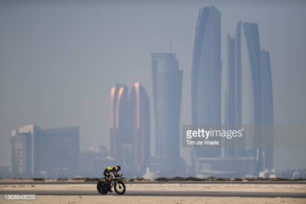 Sepp Kuss of The United States and Team Jumbo-Visma during the 3rd UAE Tour 2021, Stage 2 a 13km Individual Time Trial from Al Hudayriyat Island to...