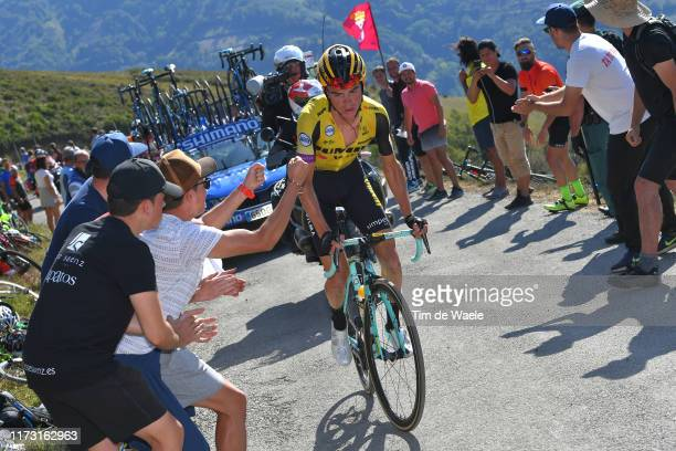 Sepp Kuss of The United States and Team Jumbo-Visma / Puerto del Acebo - Santuario del Acebo / Fans / Public / during the 74th Tour of Spain 2019,...