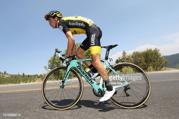 Sepp Kuss of the United States and Team LottoNL - Jumbo/ during the 14th Larry H. Miller Tour of Utah, Stage 2 a 142,6km stage from Payson City to...