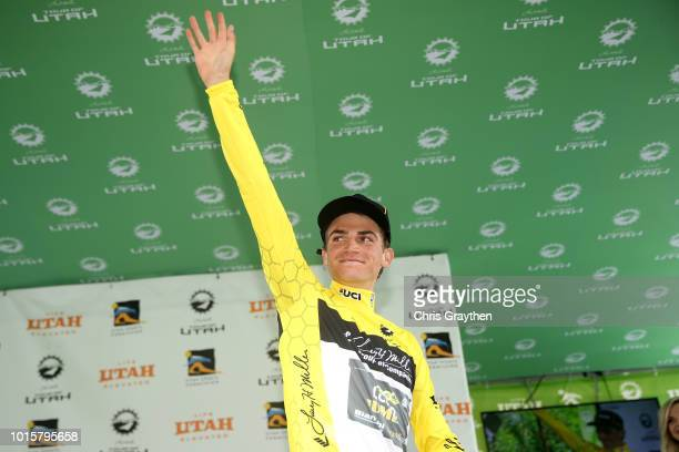 Sepp Kuss of The United States and Team LottoNL-Jumbo / Celebration / Podium / during the 14th Larry H. Miller Tour of Utah, Stage 6 a 123,4km stage...