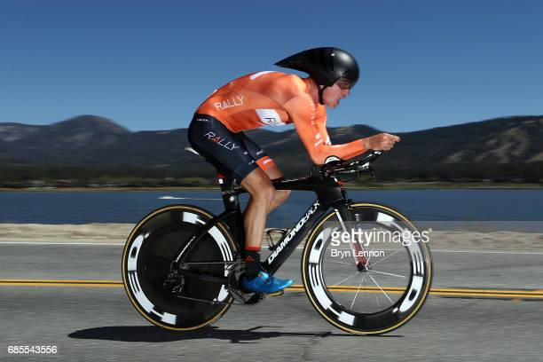 Sepp Kuss of the USA and Rally Cycling in action during stage 6 of the AMGEN Tour of California, a 14.9 mile individual time trial around Big Bear...