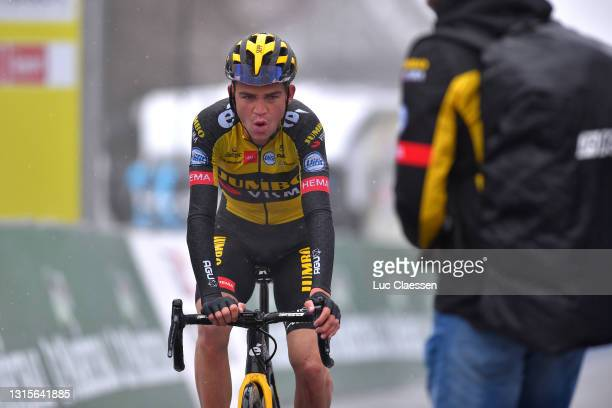 Sepp Kuss of United States and Team Jumbo - Visma at arrival during the 74th Tour De Romandie 2021, Stage 4 a 161,3km stage from Sion to Thyon 2000 -...