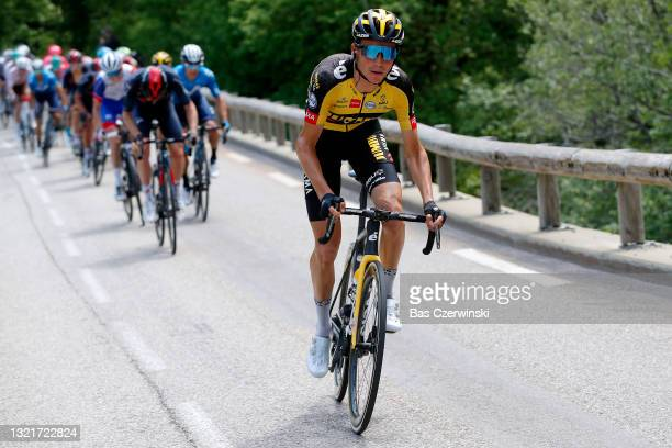 Sepp Kuss of United States and Team Jumbo - Visma in breakaway during the 73rd Critérium du Dauphiné 2021, Stage 6 a 167,2km stage from...