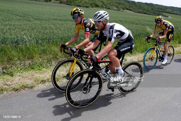 Sepp Kuss of United States and Team Jumbo - Visma & Sean Bennett of United States and Team Qhubeka Assos during the 73rd Critérium du Dauphiné 2021,...