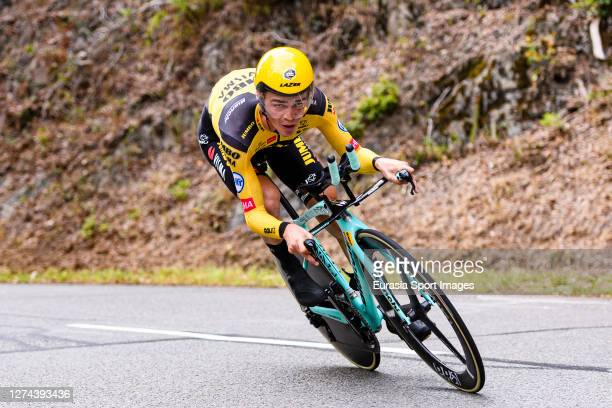 Sepp Kuss of USA - Team Jumbo-Visma during his Individual Time-Trial of Stage 20 on September 19, 2020 in Plancher Bas, France.