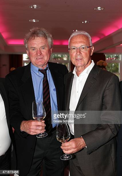 Sepp Maier Franz Beckenbauer during the Franz Roth Golf Cup gala evening in favour of Michael Roll Stiftung 'Tabaluga' on May 1 2015 in Bad...