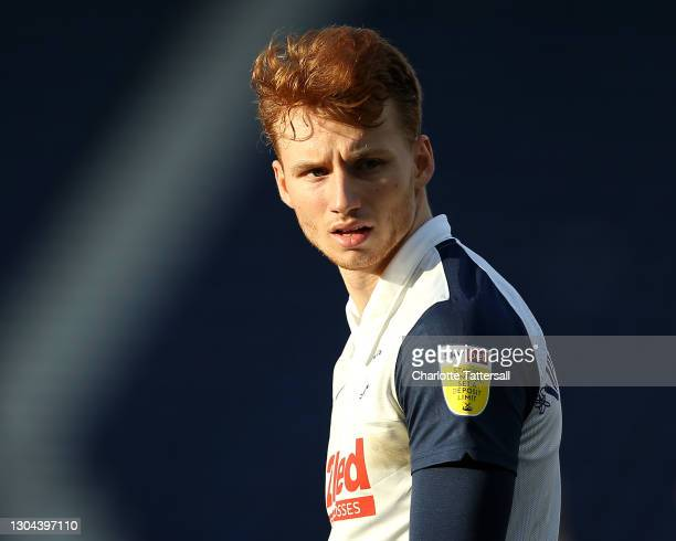 Sepp van den Berg of Preston North End looks on during the Sky Bet Championship match between Preston North End and Huddersfield Town at Deepdale on...