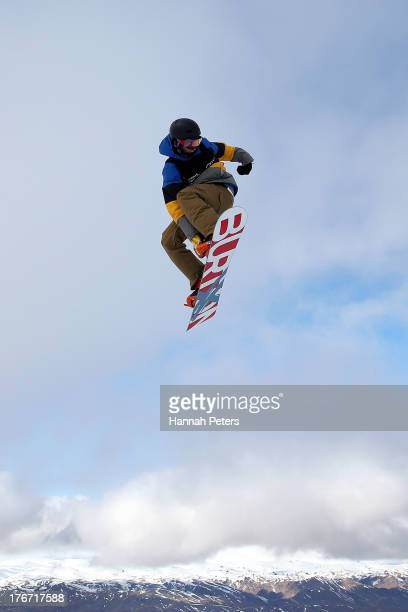 Seppe Smits of Belgium competes during the FIS Snowboard Slopestyle World Cup qualifying during day four of the Winter Games NZ at Cardrona Alpine...