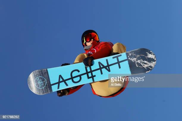 Seppe Smits of Belgium competes during the Men's Big Air Qualification on day 12 of the PyeongChang 2018 Winter Olympic Games at Alpensia Ski Jumping...