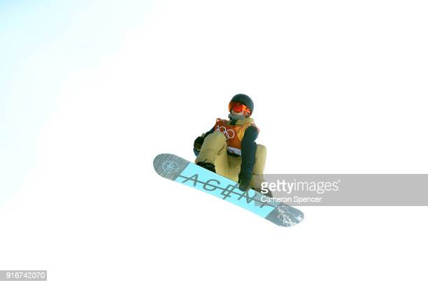 Seppe Smits of Belgium competes during the Snowboard Men's Slopestyle Final on day two of the PyeongChang 2018 Winter Olympic Games at Phoenix Snow...